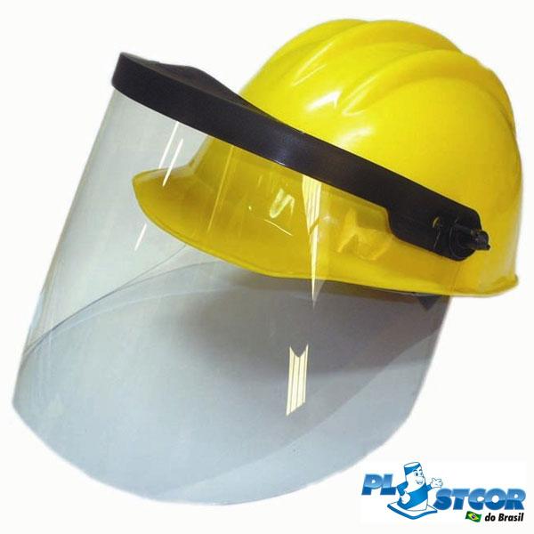 Capacete com protetor facial Plastcor